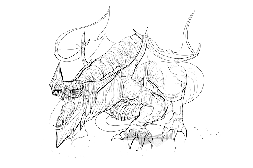 870x580 Ice Dragon Concept By Brollonks