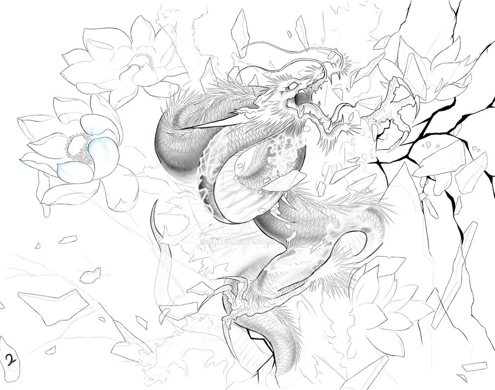 1008x793 Japanese Ice Dragon By 2inked