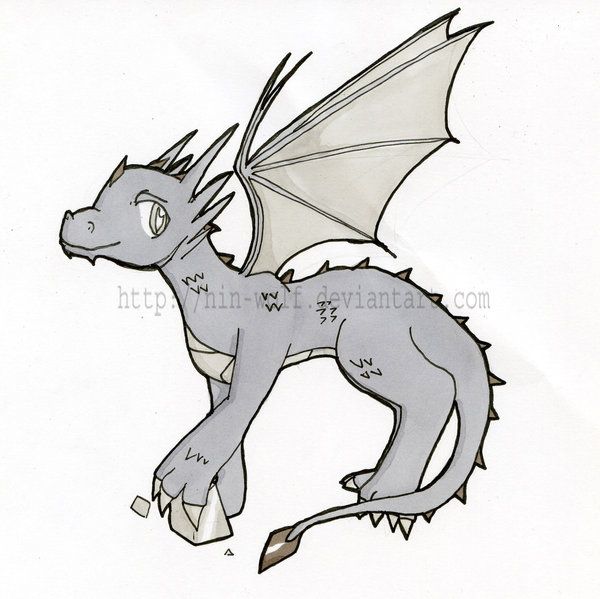 600x599 Chibi Dragon Metal By Nin Wolf