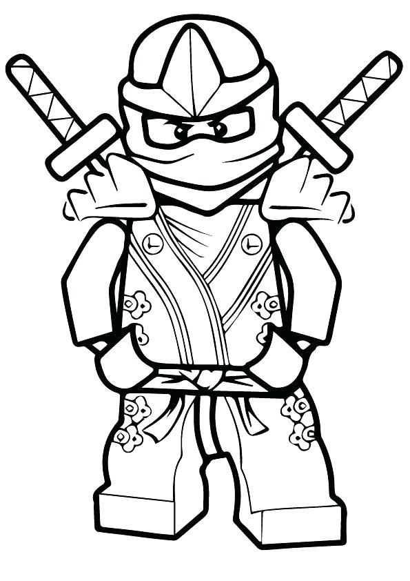 595x842 Simple Ninjago Lloyd Coloring Pages Kids And His Ice Dragon