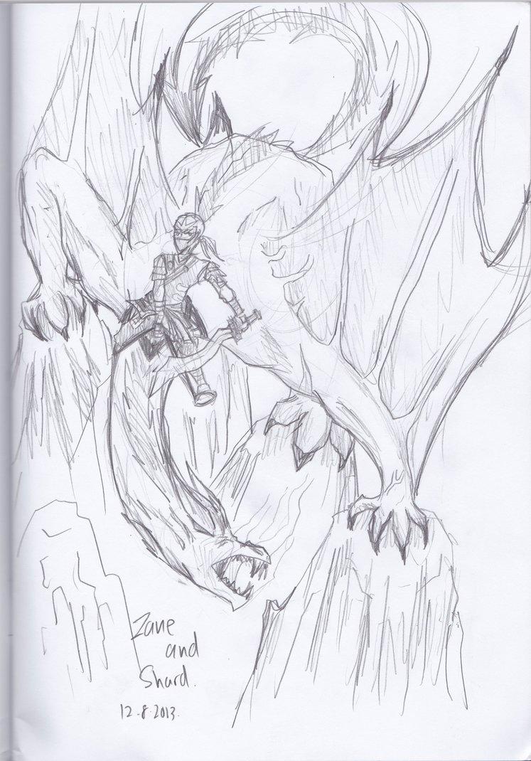 747x1070 Zane And Shard Ninja And Dragon Of Ice By Mangaartfan
