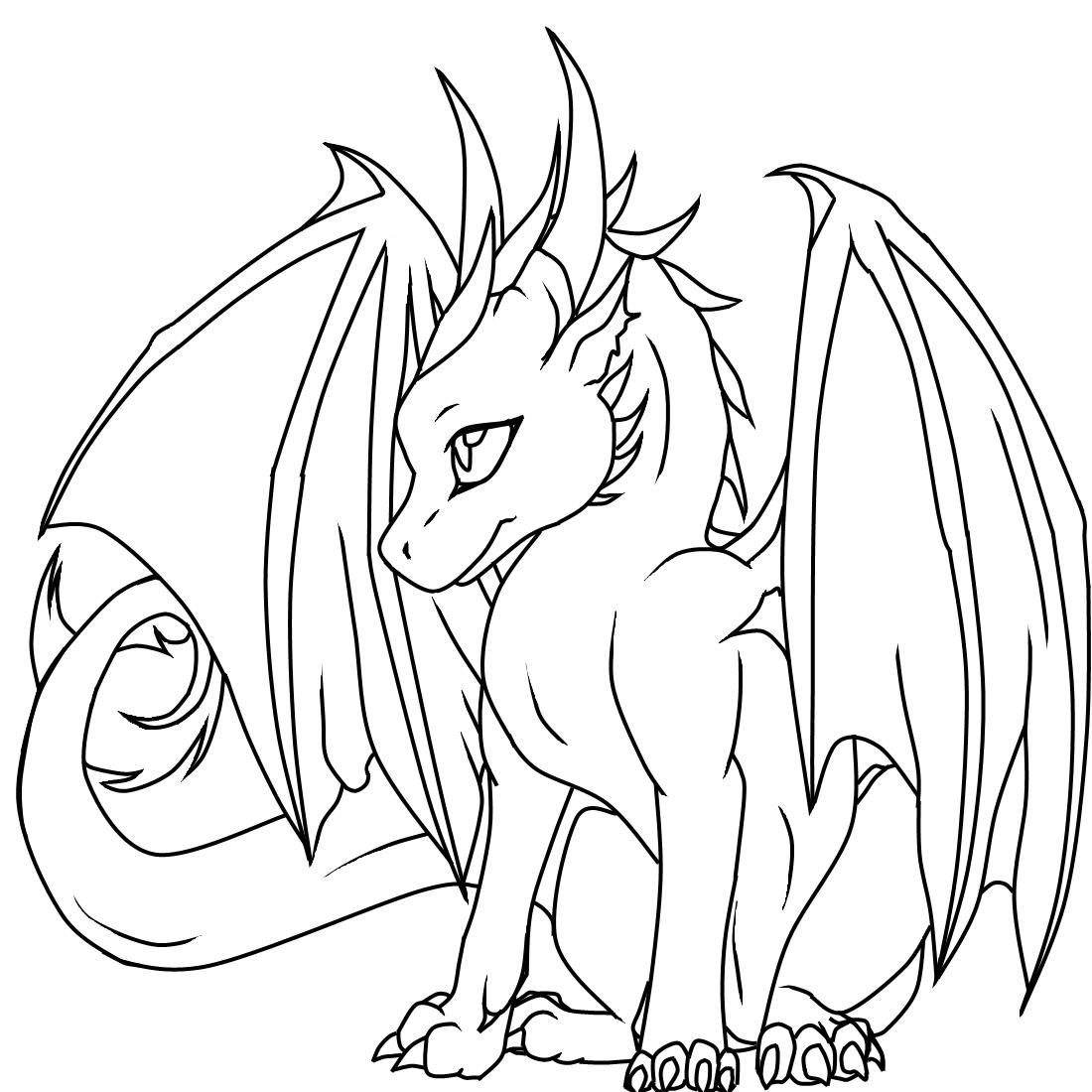 Ice Dragon Drawing at GetDrawings | Free download