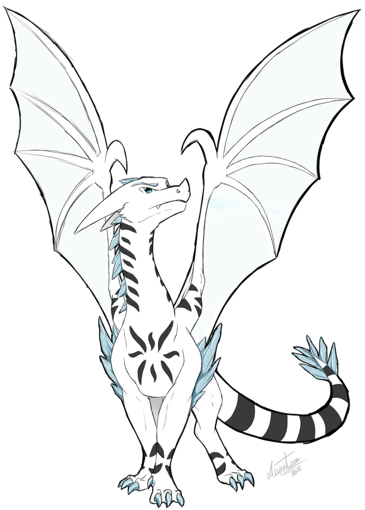1280x1788 Garjzla The Ice Dragon By Anixa Toon