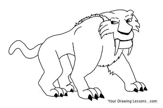 550x366 How To Draw Diego From Ice Age Your Drawing Lessons