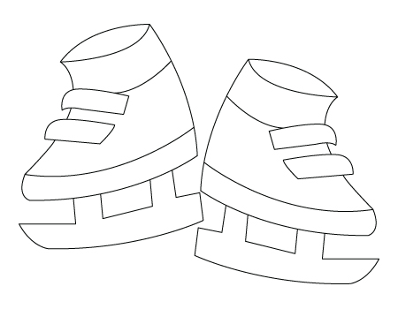 450x350 Ice Skates Drawing To Color