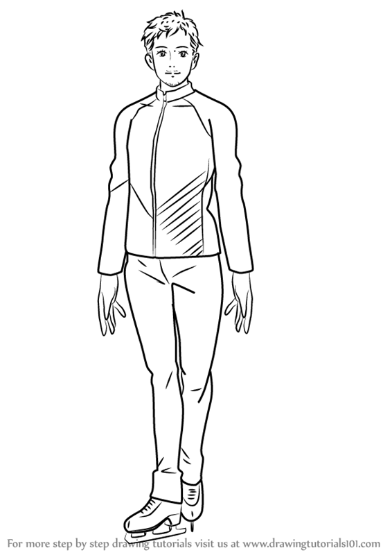 566x800 Step By Step How To Draw Christophe Giacometti From Yuri!!! On Ice