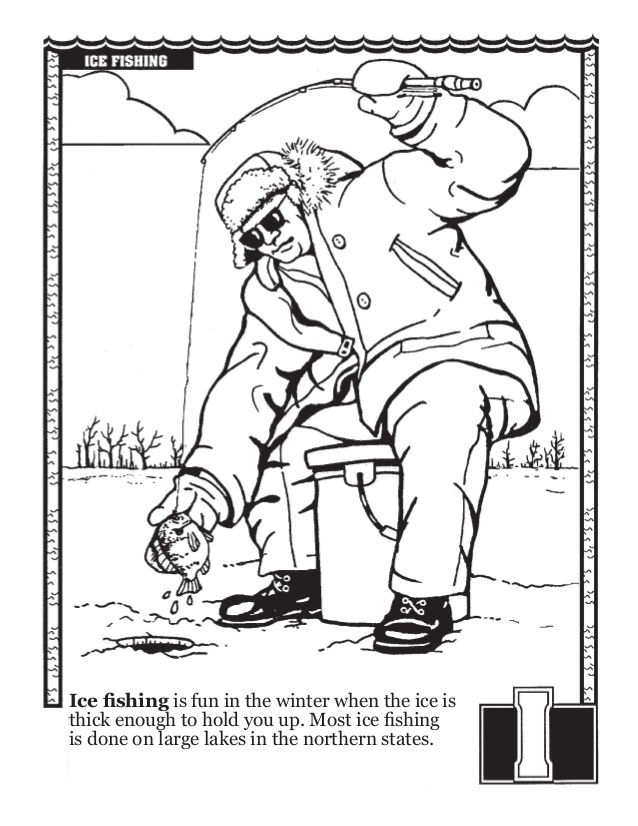 638x826 Fishing Abc's Coloring Book