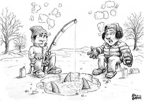 500x354 Ice Fishing Cartoon Contest By Karlwimer Sports Cartoon Toonpool
