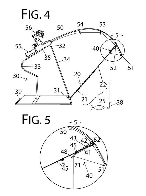 564x757 Patent Drawing Fishing Ice Fishing, Fish