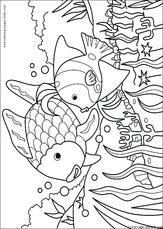 567x794 Best Fishing Color Pages New Coloring Page Ice Bass Fish Place