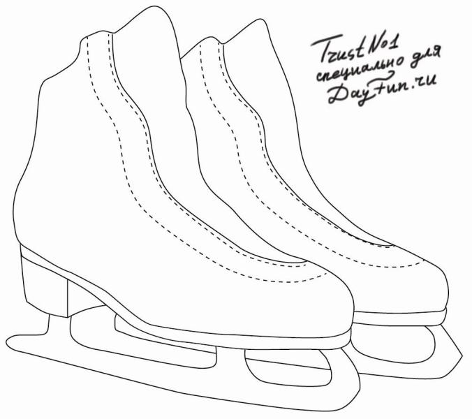676x600 How To Draw Skates Step By Step