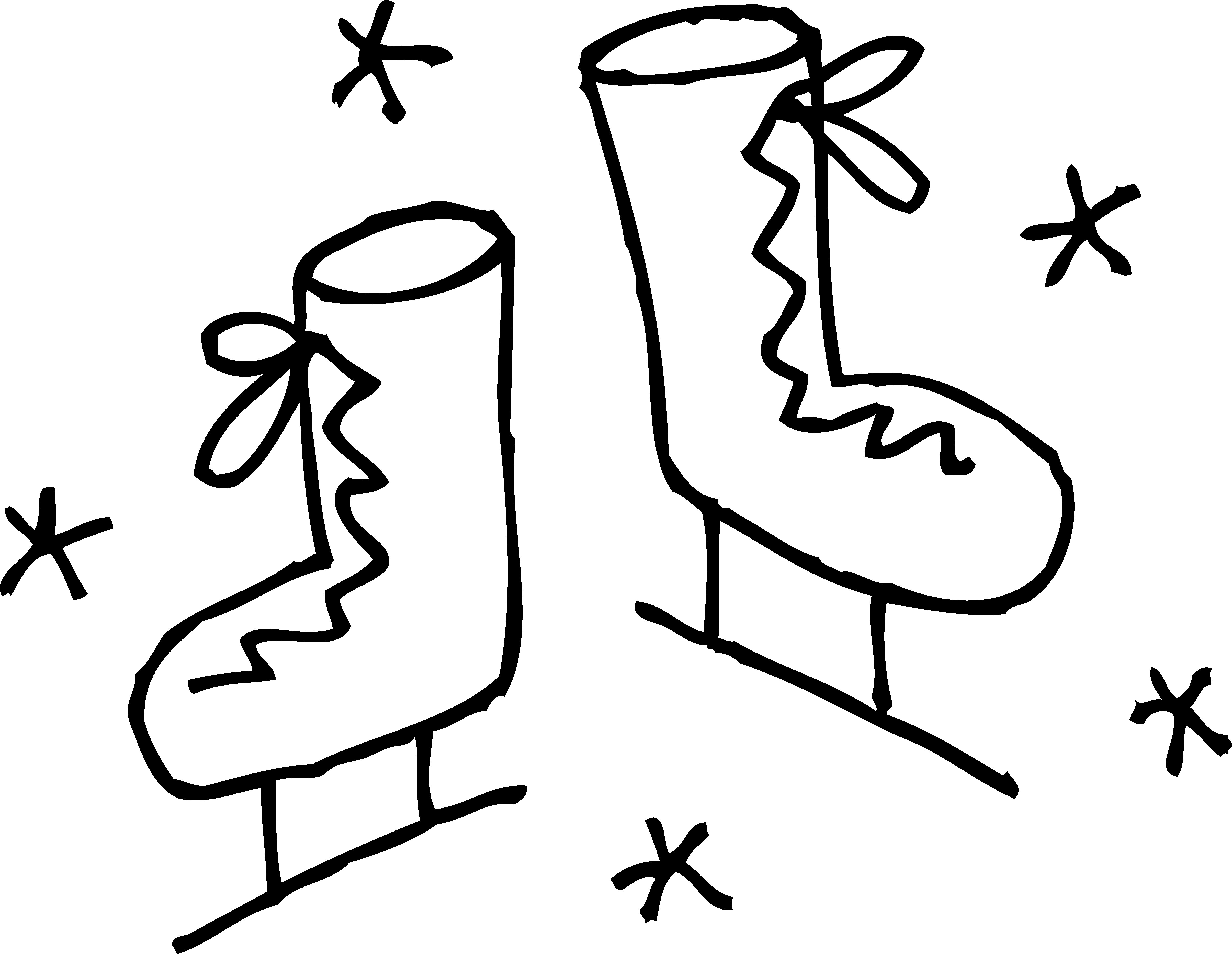 4819x3731 Ice Skates Coloring Page