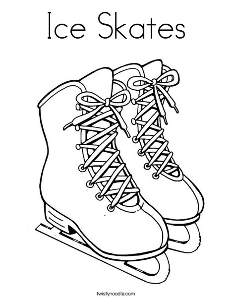 468x605 Ice Skates Coloring Page