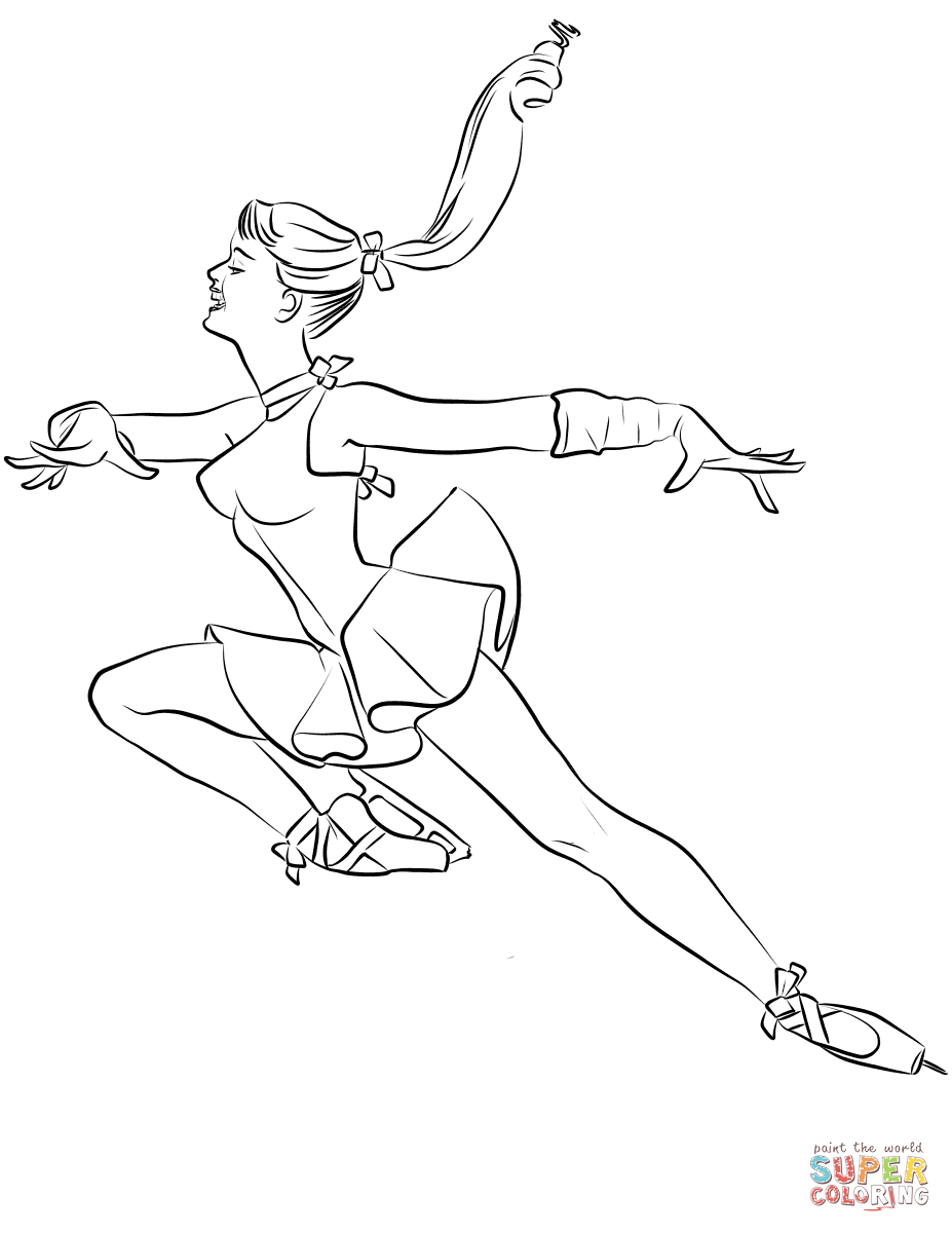 927x1200 Ice Skating Coloring Pages Free Coloring Pages