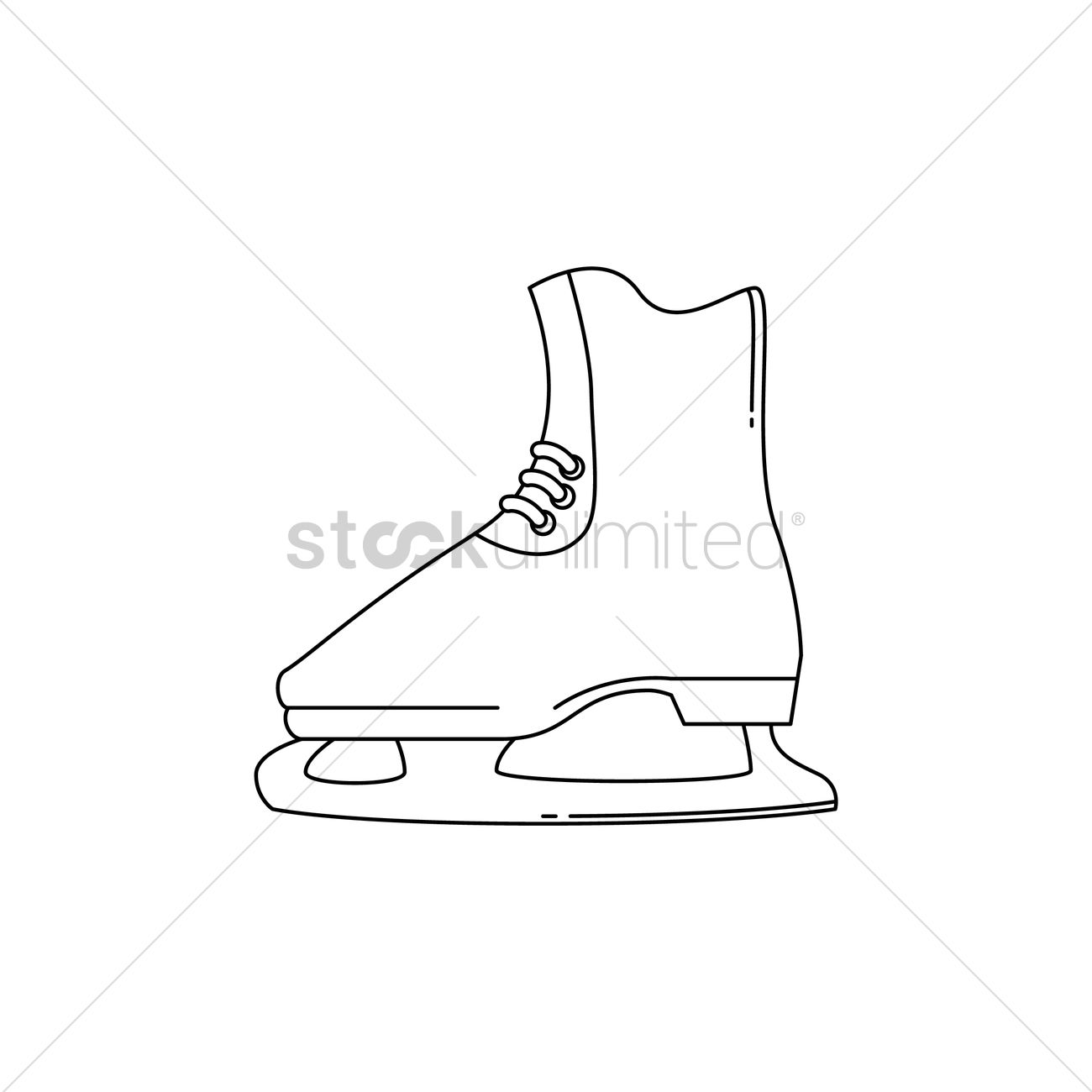 1300x1300 Ice Skate Boot Vector Image