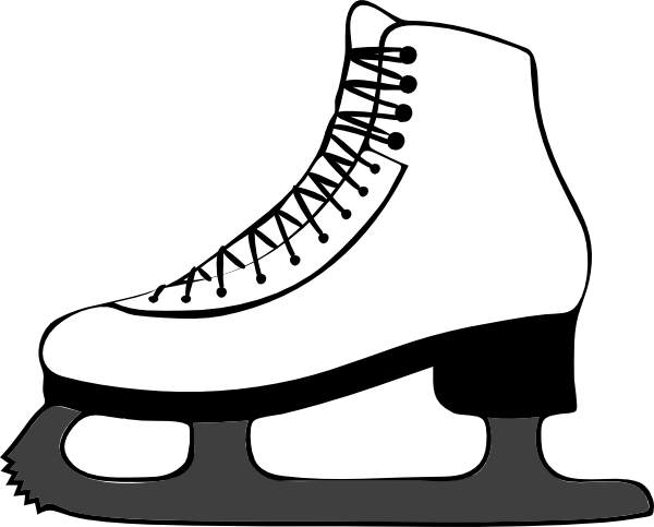 600x483 Ice Skate Side View Clip Art