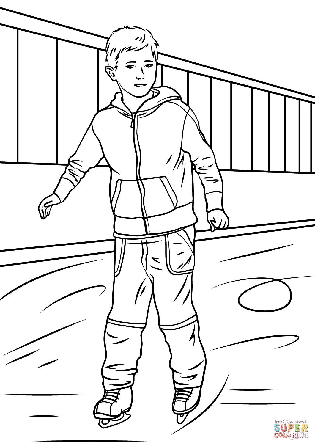 1060x1500 Boy Ice Skater Coloring Page Free Printable Coloring Pages