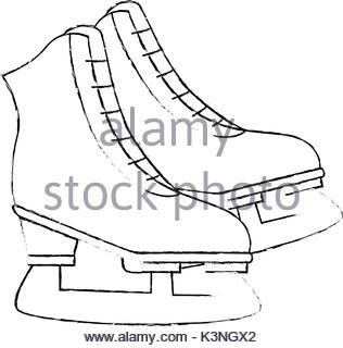 316x320 Sketch Draw Ice Skate Stock Vector Art Amp Illustration, Vector