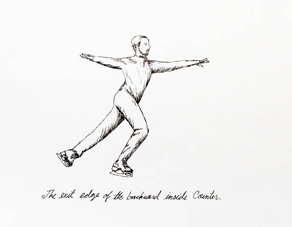 570x444 Drawing 79 Bi Counter Ice Skating Figure Skating Ice