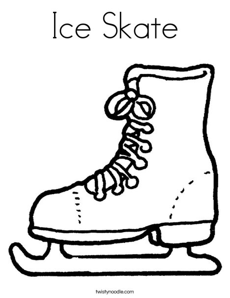 468x605 Ice Skate Coloring Page