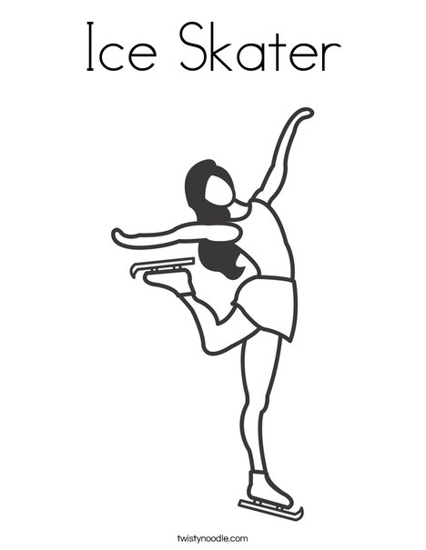 468x605 Ice Skater Coloring Page