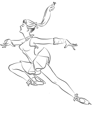 371x480 Ice Skating Ballerina Coloring Page Free Printable Coloring Pages