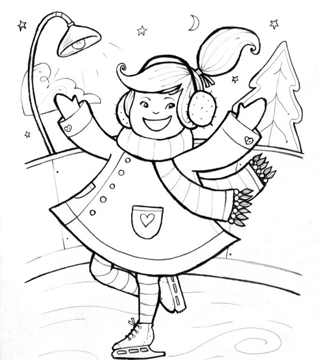 1079x1200 Ice Skating Coloring Pages To Download And Print For Toddler Free
