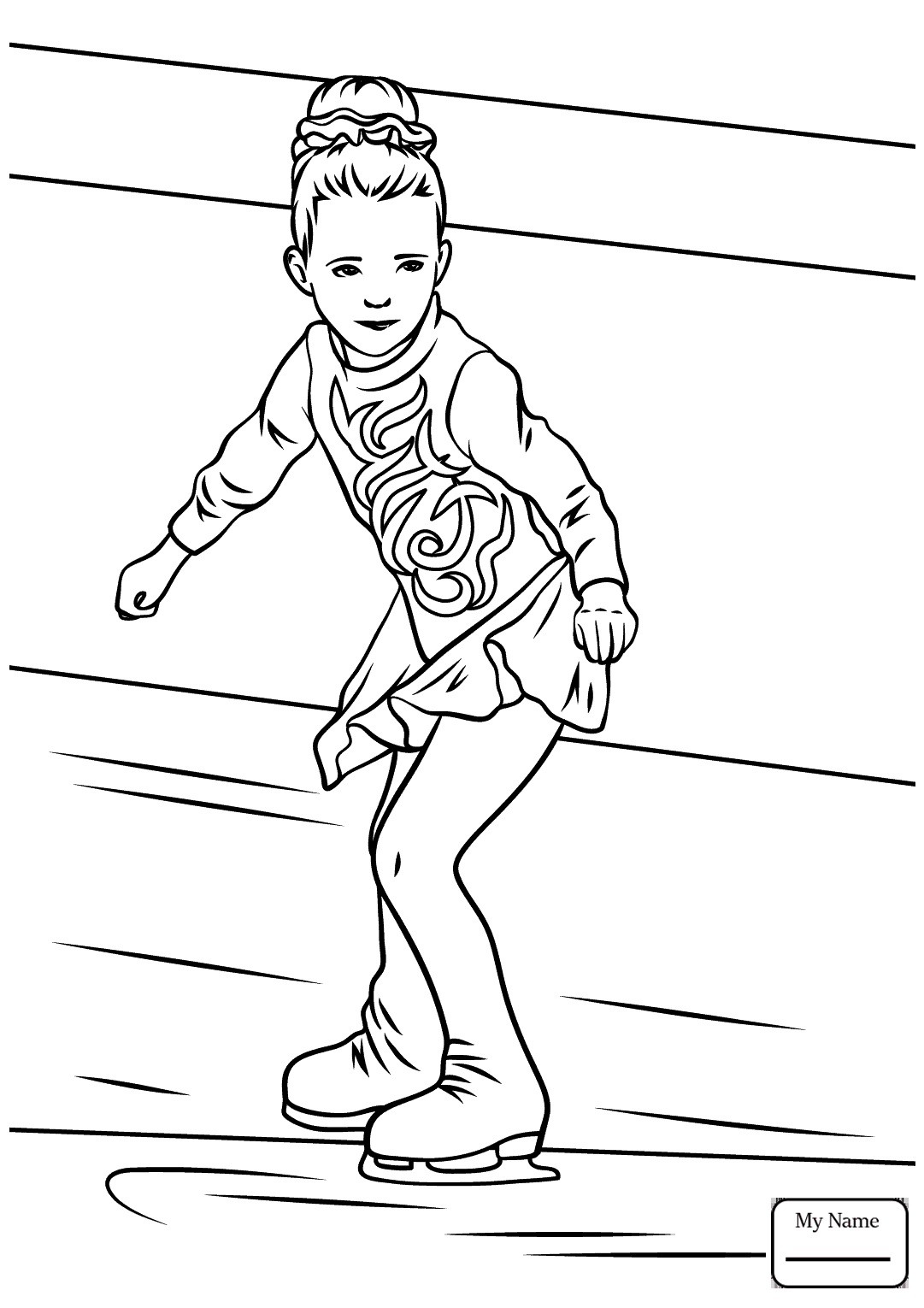 1081x1530 Coloring Pages Ice Skating Boy Ice Skater Activities