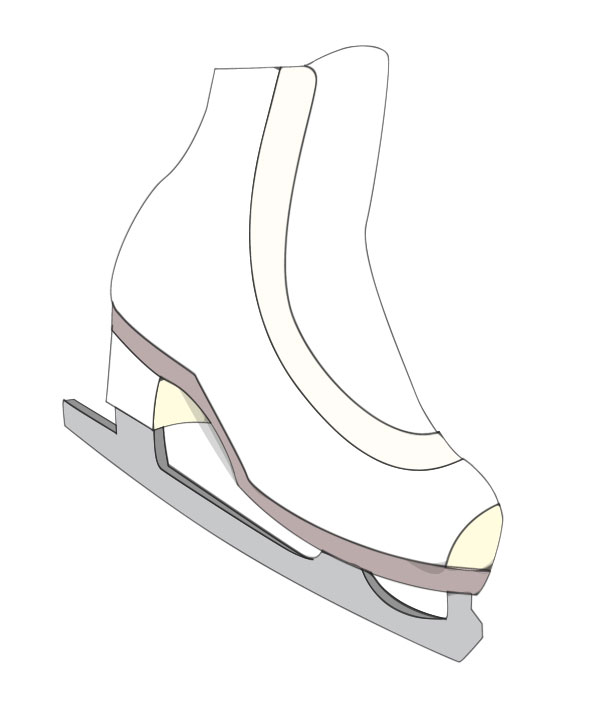 600x704 How To Create Ice Skates In A Softly Drawn Vector Style In Illustrator