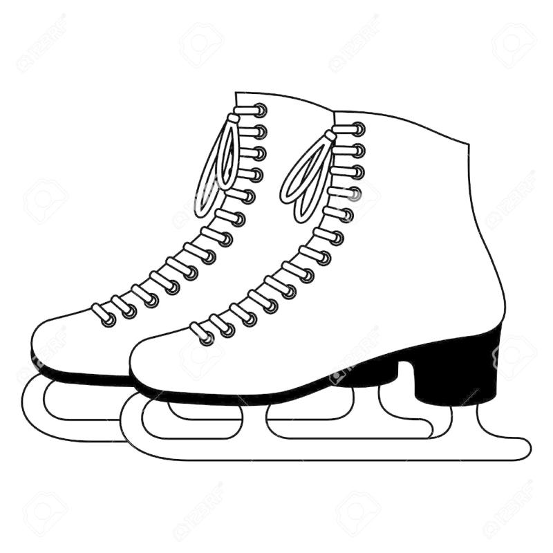 800x800 Ice Skating Shoes Clipart