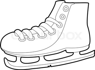 320x236 A Pair Of Skates For Figure Skating. Vector Icon Stock Vector
