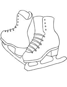232x300 Figure Ice Skates Coloring Page Educational Stuff