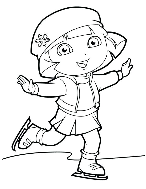 612x792 Ice Skating Coloring Pages Printable The Explorer Ice Skating