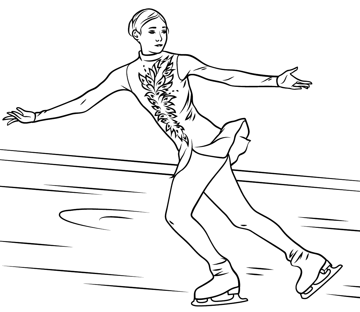1224x1060 Printable Coloring Pages Zentangle Figure Free Skating Kids Skater
