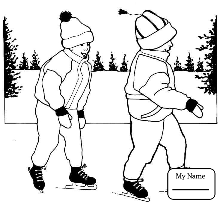 734x681 Activities Ice Skating Girl Ice Skating Coloring Pages For Kids