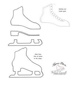 236x295 Ice Skate Template Disegni Da Stamparedrawings To Be Printed