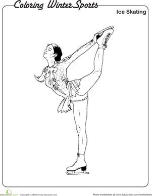 301x387 Coloring Winter Sports Ice Skating Worksheet