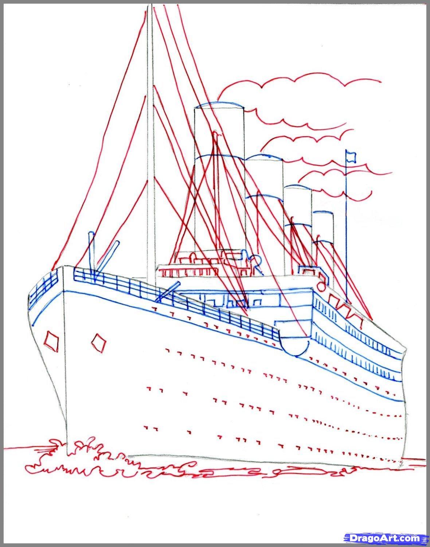 1180x1500 How To Draw The Titanic, Titanic Step 3 Still Life