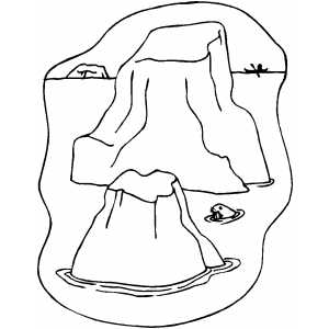 300x300 Iceberg Coloring Page