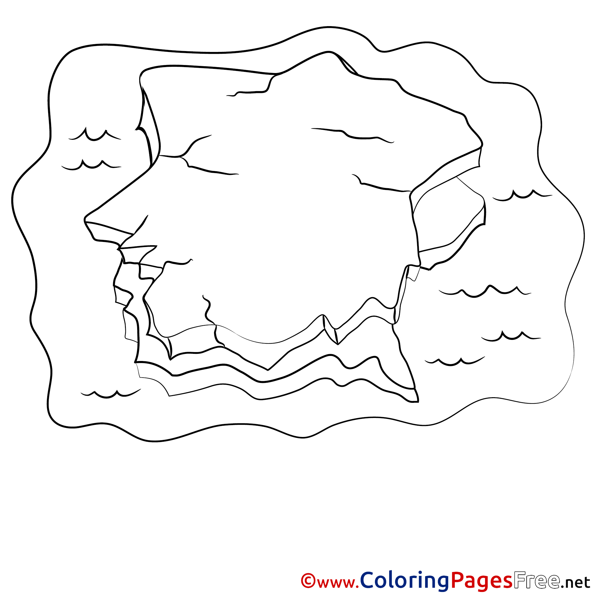 2001x2001 Iceberg Coloring Pages Printable Iceberg And Penguin Coloring Page