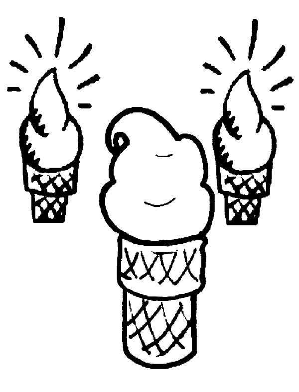 600x788 Drawing Ice Cream Cone Coloring Pages Bulk Color