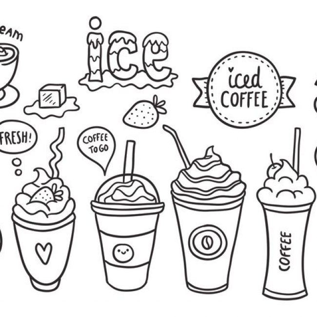 650x650 Free Vector Free Iced Coffee Vector Pack