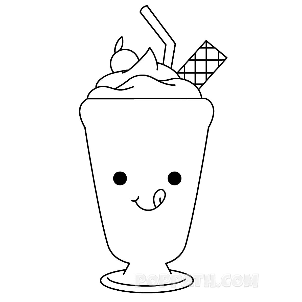 1195x1195 How To Draw A Milkshake Pop Path