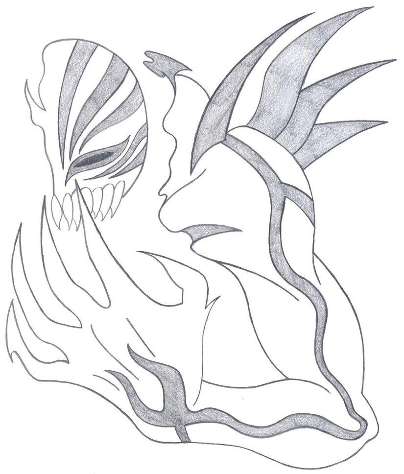 825x968 Attempt Ichigo Hollow Arm And Mask By Fallensamurai22