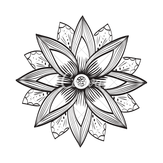 550x550 Decorative Flower Icon Drawing