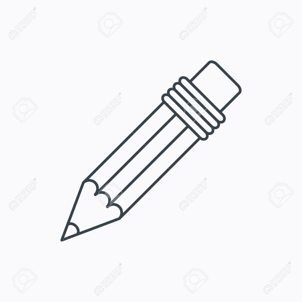 1024x1024 Pencil Outline Drawings Pencil Icon Drawing Tool Sign Linear