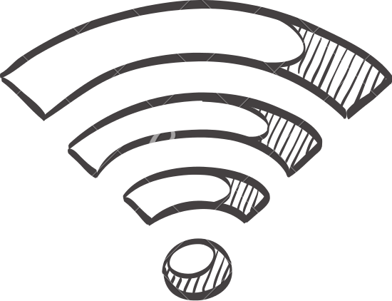 550x422 Sketch Icon Of A Wifi Symbol