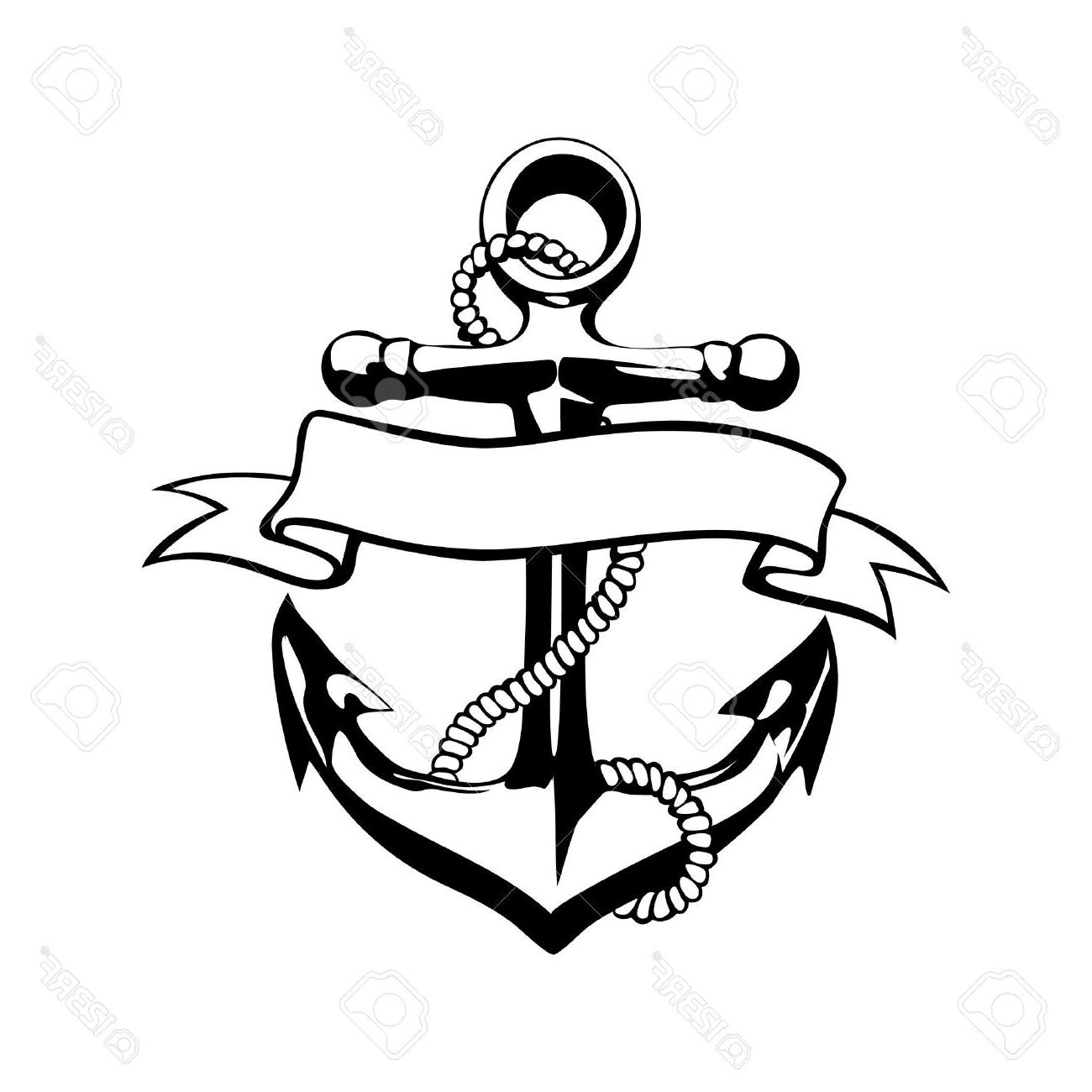 1300x1300 Best Hd Anchor Icon Vector Tattoo Logo Grunge Design Floral Hand