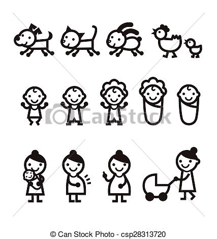 427x470 Baby, Mommy, Pet Icon. Baby, Mommy, Woman, Dog, Cat And Pet