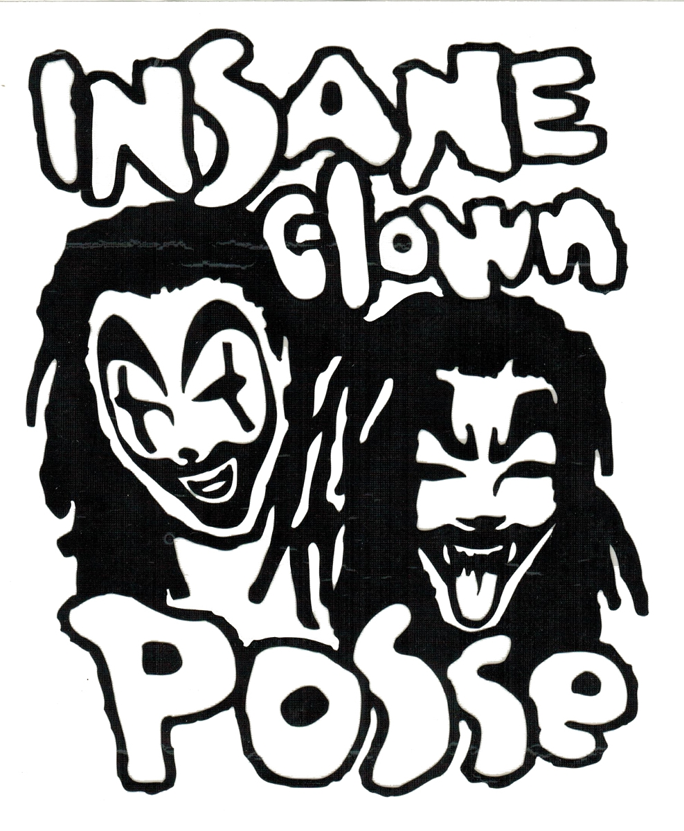 988x1200 Insane Clown Posse Band Logo Rub On Sticker Black